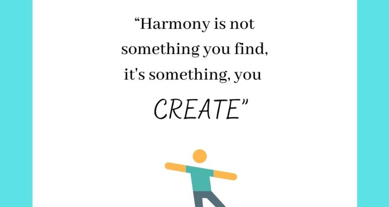 Finding your Harmony!